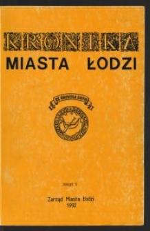 Kronika Miasta Łodzi. 1992 z. 1