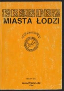 Kronika Miasta Łodzi. 1994 z. 2