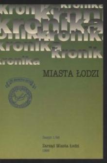 Kronika Miasta Łodzi. 1998 z. 1