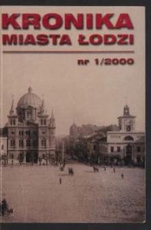 Kronika Miasta Łodzi. 2000 nr 1