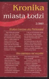 Kronika Miasta Łodzi. 2003 [nr] 2