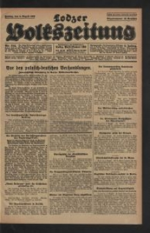 Lodzer Volkszeitung. 1928-08-03 Jg 6 Nr 214