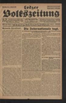 Lodzer Volkszeitung. 1928-08-07 Jg 6 Nr 218