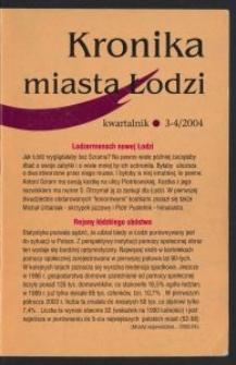 Kronika Miasta Łodzi : kwartalnik. 2004 [nr] 3/4