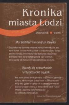Kronika Miasta Łodzi : kwartalnik. 2006 [nr] 4