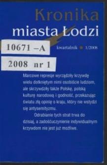 Kronika Miasta Łodzi : kwartalnik. 2008 [nr] 1