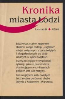 Kronika Miasta Łodzi : kwartalnik. 2008 [nr] 4