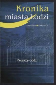 Kronika Miasta Łodzi : kwartalnik. 2009 [nr] 4 (48)
