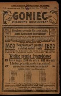Goniec Wieczorny Ilustrowany. 1926-02-25 R. 1 nr 1