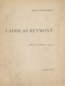 Ladislas Reymont : (essai sur son oeuvre)