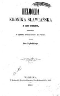 Helmolda Kronika Sławiańska z XII wieku