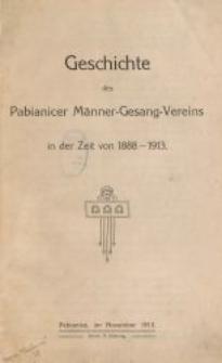 Geschichte des Pabianicer Männer-Gesang-Vereins in der Zeit von 1888-1913