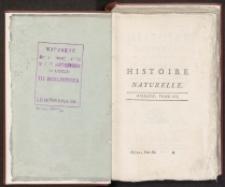 Histoire naturelle general et particuliere […] : fragmenty