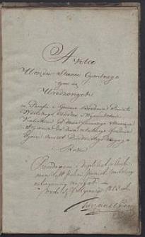 [Akta Urzędnika Stanu Cywilnego parafii Brodnia] : 1822 r.