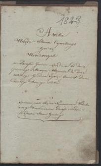 [Akta Urzędnika Stanu Cywilnego parafii Brodnia] : Akta urodzin, ślubów i zgonów parafii Brodnia 1823 r.