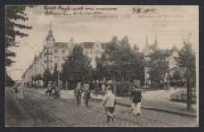 Königsberg i Pr., Kaiserplatz mit Kaiserstrasse [D. i.]
