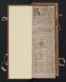 Regestr czynszów dla Kolegiaty Nawiedzenia Najświętszej Marii Panny w Wieluniu : 1622-1705