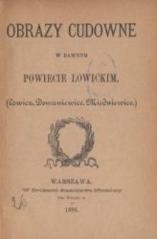 Obrazy cudowne w dawnym powiecie łowickim : (Łowicz, Domaniewice, Miedniewice)