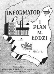 Informator i plan m[iasta] Łodzi