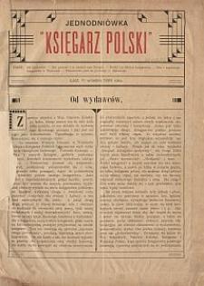 """Jednodniówka """"Księgarz Polski"""" : Łódź, 1go września 1909 roku"""