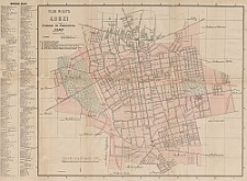 Plan miasta Łodzi