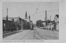 Litzmannstadt, Adolf-Hitler-Strasse vom Friesenplatz gesehen