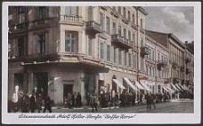 """Litzmannstadt, Adolf Hitler-Strasse """"Kaffee Korso"""""""
