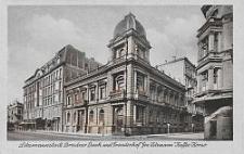 """Litzmannstadt, Dresdner Bank und Fremdenhof """"Gen. Litzmann"""" """"Kaffe Korso"""""""