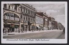 """Litzmannstadt, Adolf Hitler-Strasse """"Kaffee Esplanade"""""""
