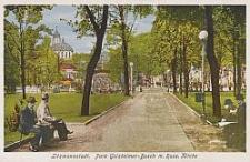 Litzmannstadt, Park Golzheimer-Busch m. Russ. Kirche
