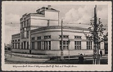 Litzmannstadt, Büro d. Litzmannstädt. H. Arb. a. d. Strasse. Linie