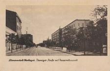 Litzmannstadt/Warthegau, Danziger Strasse mit Reservelazarett