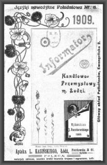 Informator Handlowo-Przemysłowy m. Łodzi : 1909