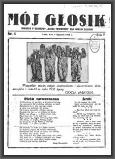 """Mój Głosik : dodatek tygodniowy """"Głosu Porannego"""" dla naszej dziatwy. 1933-01-01 R. 5 nr 1"""