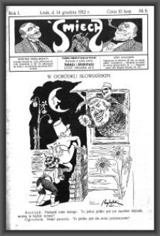 Śmiech : tygodnik humorystyczno-satyryczny : wychodzi w każdą sobotę. 1912-12-14 R. 1 no 8