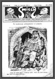 Śmiech : tygodnik humorystyczno-satyryczny : wychodzi w każdą sobotę. 1913-01-04 R. 2 no 2