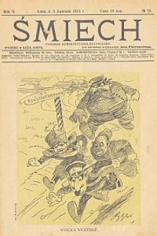 Śmiech : tygodnik humorystyczno-satyryczny : wychodzi w każdą sobotę. 1913-04-05 R. 2 no 15