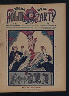 Wolna Myśl Wolne Żarty : tygodnik artystyczno-literacki i satyryczno-humorystyczny. 1927 [R. 9] no 7