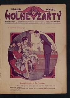 Wolna Myśl Wolne Żarty : tygodnik artystyczno-literacki i satyryczno-humorystyczny. 1927 R. 9 no 14