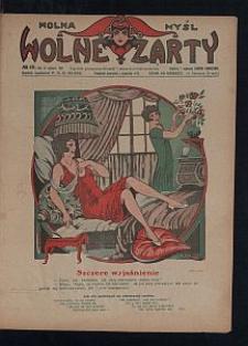 Wolna Myśl Wolne Żarty : tygodnik artystyczno-literacki i satyryczno-humorystyczny. 1927 R. 9 no 18