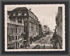Litzmannstadt, Adolf-Hitler-Strasse m. Fremdenhof General Litzmann