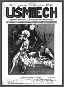 Uśmiech : tygodnik literacki, humorystyczno - satyryczny. 1929-01-19 [R. 3] nr 4