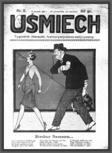 Uśmiech : tygodnik literacki, humorystyczno - satyryczny. 1929-01-26 [R. 3] nr 5