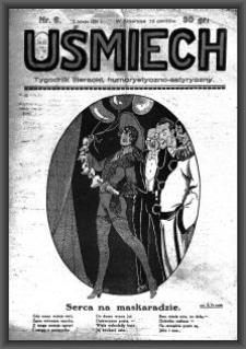 Uśmiech : tygodnik literacki, humorystyczno - satyryczny. 1929-02-02 [R. 3] nr 6