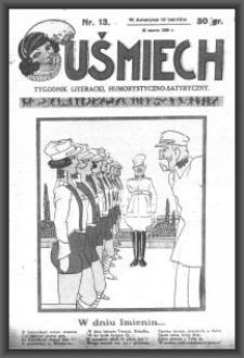 Uśmiech : tygodnik literacki, humorystyczno - satyryczny. 1929-03-23 [R. 3] nr 13