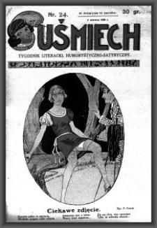 Uśmiech : tygodnik literacki, humorystyczno - satyryczny. 1929-06-06 [R. 3] nr 24