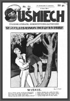 Uśmiech : tygodnik literacki, humorystyczno - satyryczny. 1929-07-25 [R. 3] nr 31