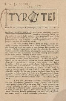 """Tyrtej : dodatek do """"Biuletynu Kujawskiego"""" z dn. [19]42-03-21 [R. 1] nr 1"""