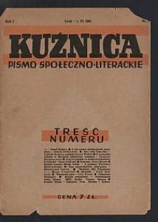 Kuźnica : pismo społeczno-literackie. 1945-06-01 R. 1 nr 1