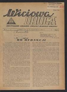 Wiciowa Droga : dwutygodnik Łódzkiego Związku Młodzieży Wiejskiej. 1946-06-09 R. 1 nr 1